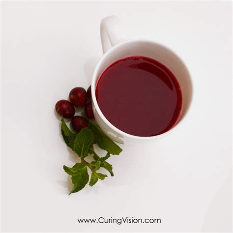Cranberry Detox Tea by Curing Vision Curing Our Vision Of Health Together