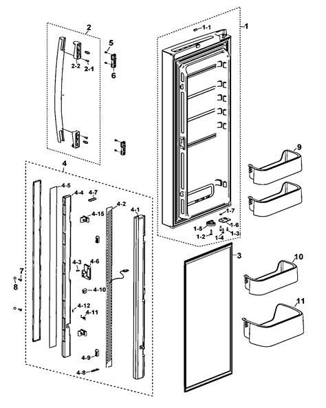 samsung refrigerator parts left door diagram parts list for model rf197acbpxaa0000 samsung parts refrigerator parts
