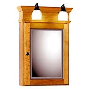 medicine cabinets with lights attached strasser woodenworks 76 039 sn 19 inch
