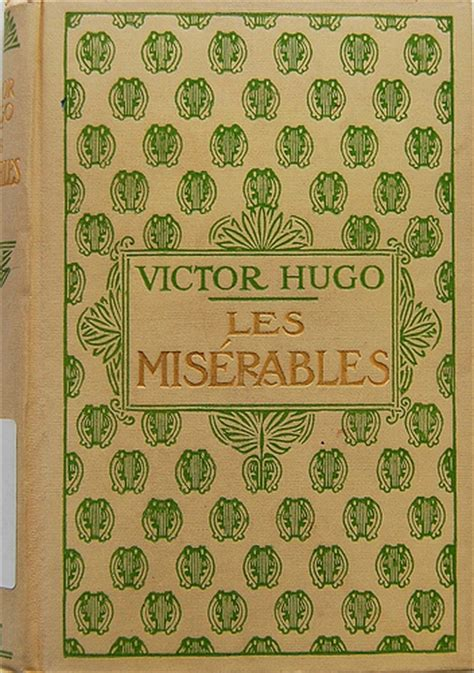 les miserables book report book cover of les mis 233 rables by victor hugo 1931 cover