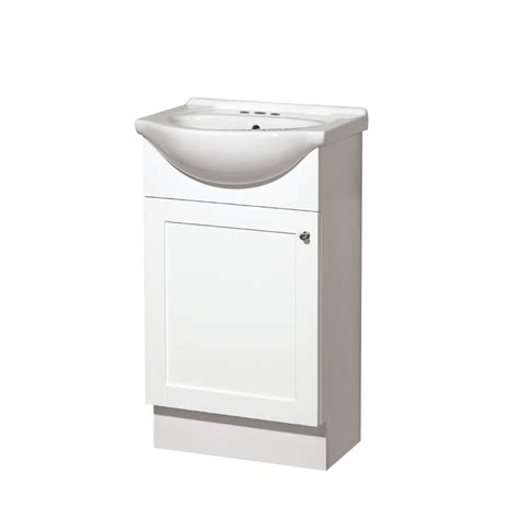 euro style bathroom vanity shop style selections euro style white belly bowl single