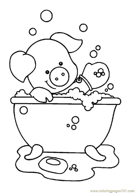 bathtime coloring pages az coloring pages
