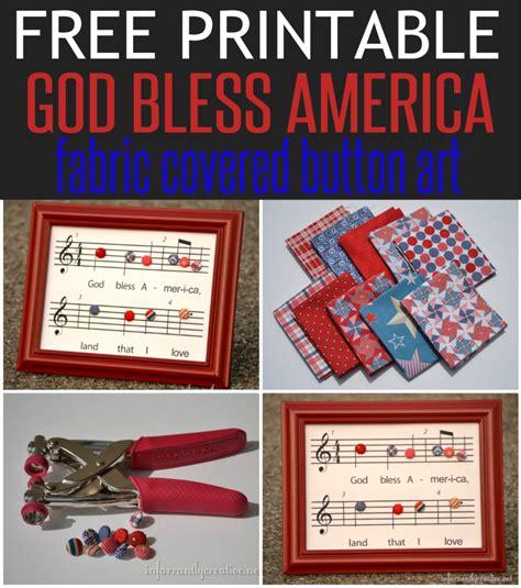 printable lyrics god bless america patriotic craft god bless america printable