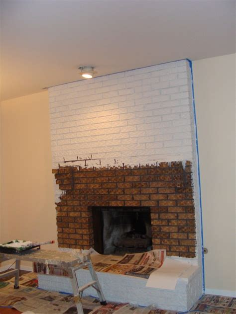 White Brick Fireplaces by Painted White Brick Fireplace Fireplace