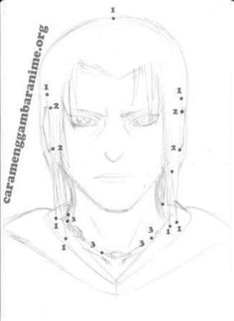 tutorial menggambar itachi how to draw itachi uchiha face step 5 naruto