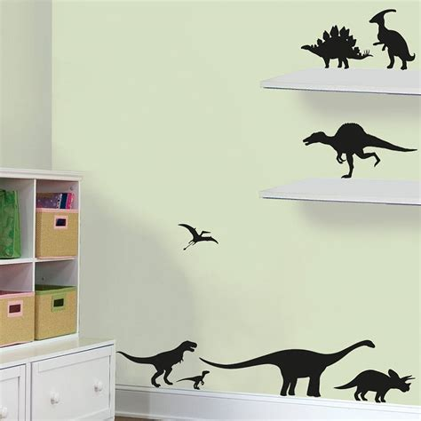 dino wall stickers pack of dinosaurs vinyl wall stickers by oakdene designs notonthehighstreet