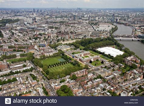 chelsea uk aerial view of chelsea london sw3 stock photo royalty