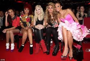 lil mix and tulisa mp national television awards 2012 tulisa ruffles some