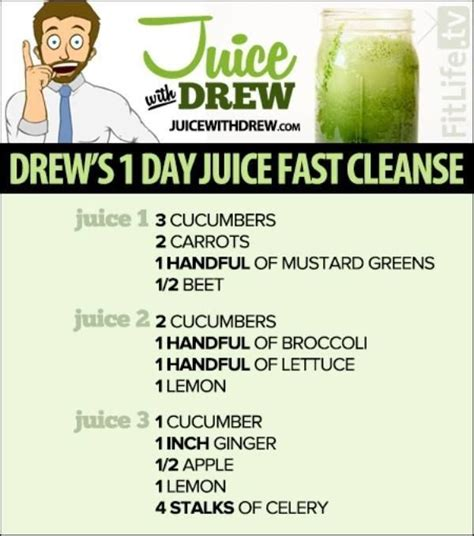 5 Day Juice Detox Recipes by Drew S 1 Day Juice Fast Cleanse Here Is A List Of A Few