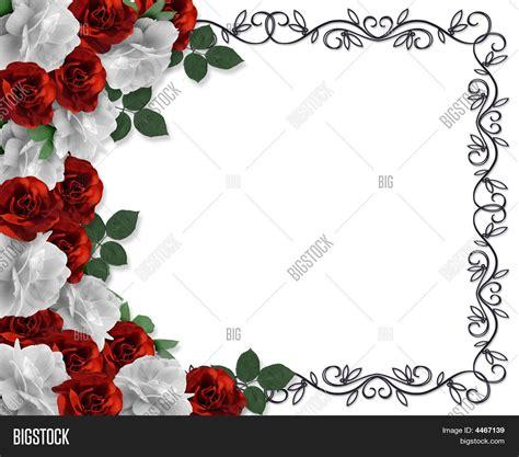 design bunga valentine valentine wedding border roses image photo bigstock