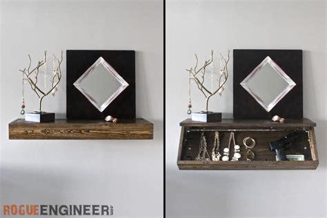 floating shelf design diy secret floating shelf free plans rogue engineer