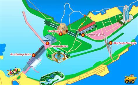 map of three gorges yangtze cruise map of yangtze river