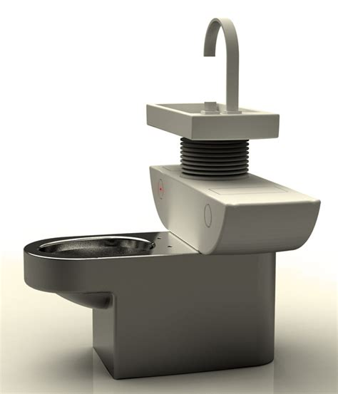 What Is A Eco Toilet by Eco Toilet Recycle The Water From The Washbasin