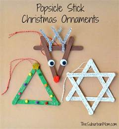 3 popsicle stick christmas ornaments kids craft