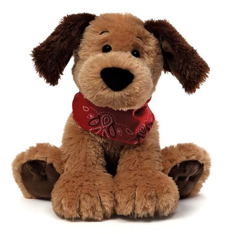 puppy stuffed animals bandit the 9 inch brown plush with bandana by gund