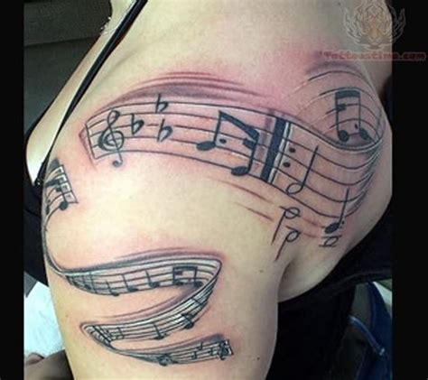 music tattoo designs for women notes design for