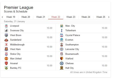 epl week 21 football match schedules 2016 17 187 expert motorised