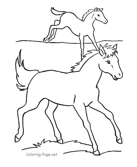 Coloring Pages Of Horses Running coloring pages running horses