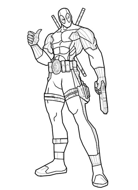 Coloring Page Deadpool by Deadpool Coloring Pages 187 Coloring Pages