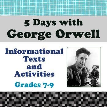 george orwell biography questions 1000 images about secondary literacy on pinterest