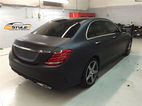 mercedes matte black matte black mercedes c300 vehicle customization shop