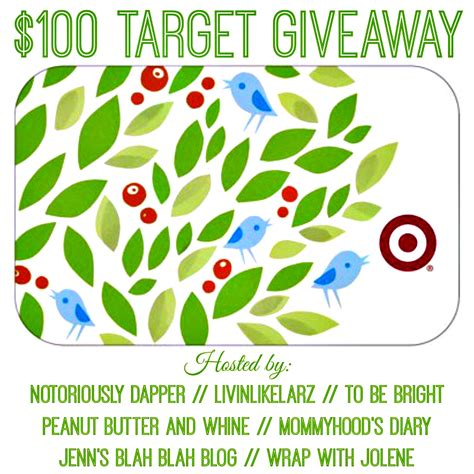 Target Giveaway - 100 target giftcard giveaway notoriously dapper