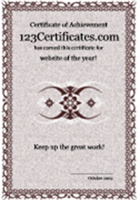 cool printable certificates and award templates