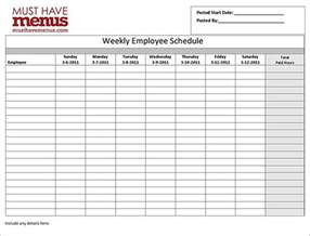 Weekly Shift Schedule Template by Employee Schedule Template 10 Free Sle Exle