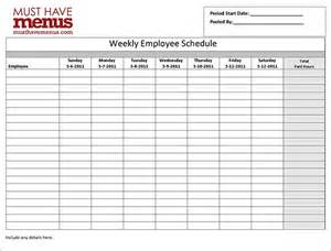 Employee Schedule Template by Employee Work Schedule Template 8 Free Word Excel Pdf
