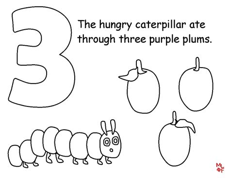 Get This The Very Hungry Caterpillar Coloring Pages Free