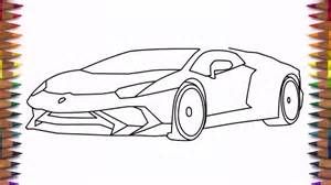 How To Draw A Lamborghini Easy How To Draw A Car Lamborghini Aventador Lp 750 4 Step By