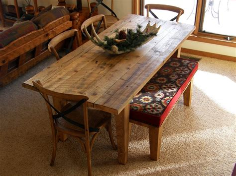 barnwood dining table with benches barnwood dining table and bench by rockyblue