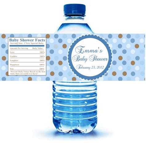baby shower water bottle labels template free bottle idea