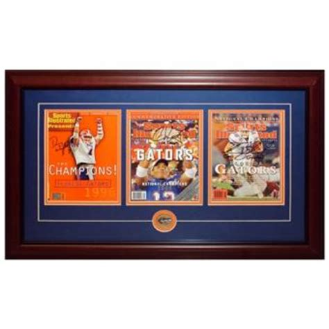 Florida Gators National Chions Framed Danny Wuerffel Sports Memorabilia Signed Autographed