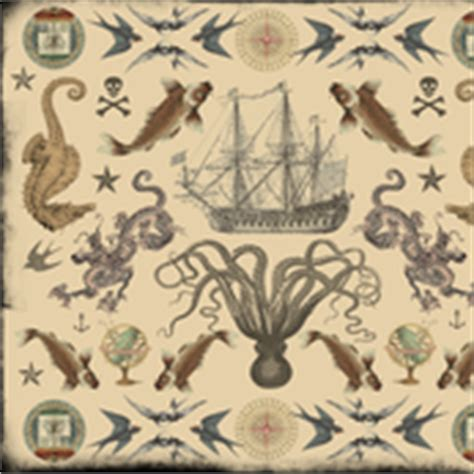 tattoo wrapping paper nautical fabric wallpaper gift wrap spoonflower