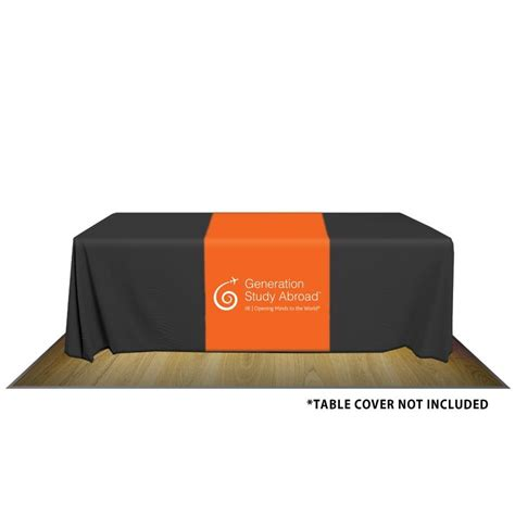 32 quot custom printed poly canvas table runner