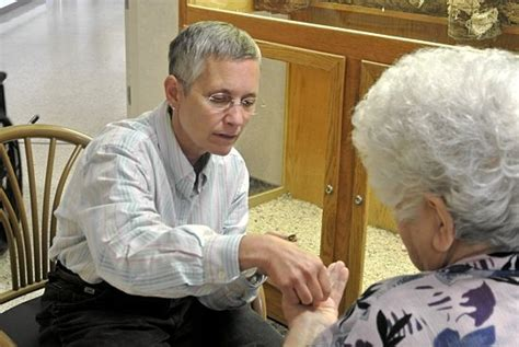 church lady calls bringing communion to homebound