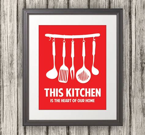 free printable kitchen poster this kitchen is the heart of our home kitchen print by