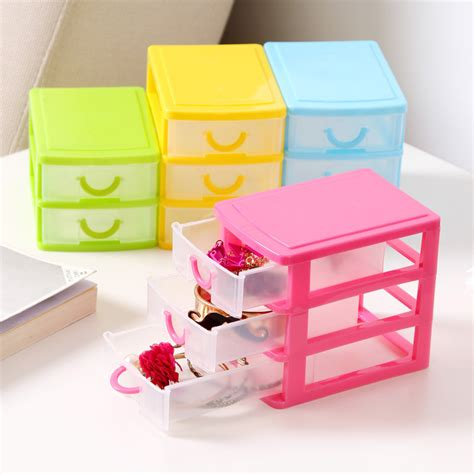 mini desk storage drawers 1pcs colorful mini drawer finishing cosmetic storage box