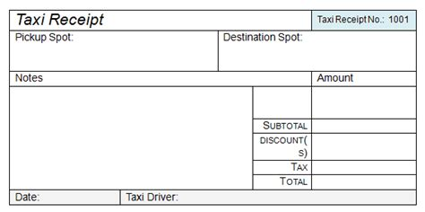 50  Free Receipt Templates (Cash, Sales, Donation, Taxi )