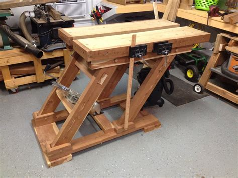 work bench tops adjustable height split top workbench by mattnc