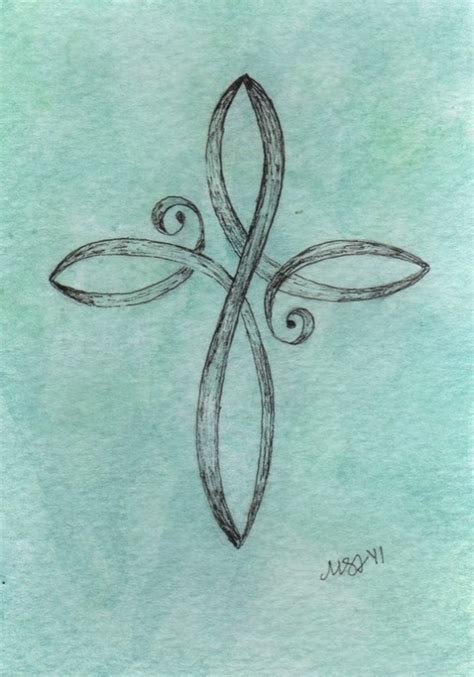 infinity cross cute tattoo
