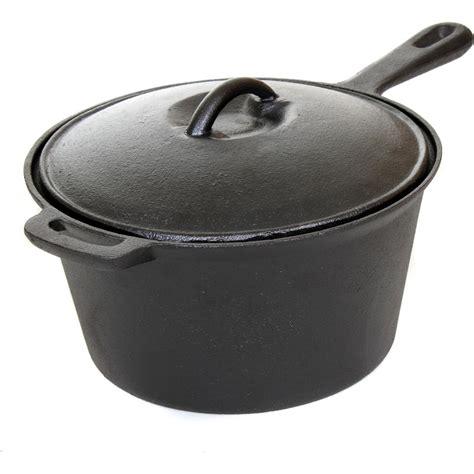 A Pot And A Cast Iron Alibi cajun classic 3 quart seasoned cast iron sauce pot