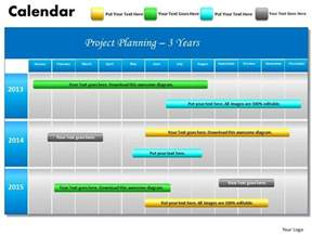 calendar powerpoint template 3 years project planning gantt chart 2013 calendar
