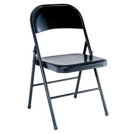 mainstays steel black folding chair walmart