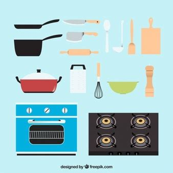 kitchen tools design flat kitchen utensils pack vector free download