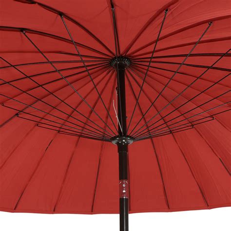 sunnydaze shanghai aluminum 8 foot patio umbrella with