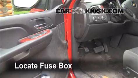 interior fuse box location   chevrolet avalanche
