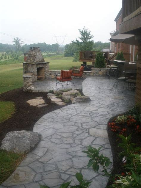 poured concrete patio 25 best ideas about sted concrete on