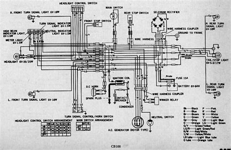 honda cb electrical wiring diagram  photo  flickriver